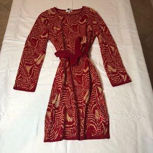 Vintage St. John red & gold dress - never worn.